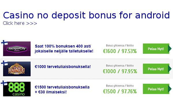 no deposit bonus casino for android